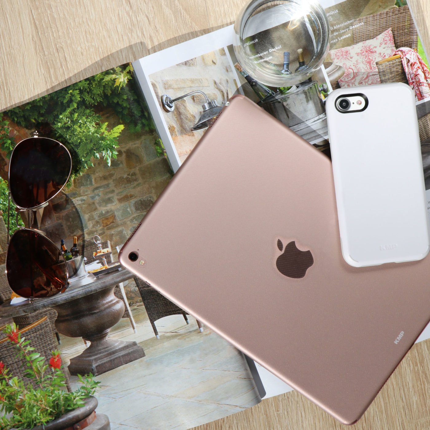 Skin rosègold iPad mini, Sporty Case iPhone 7