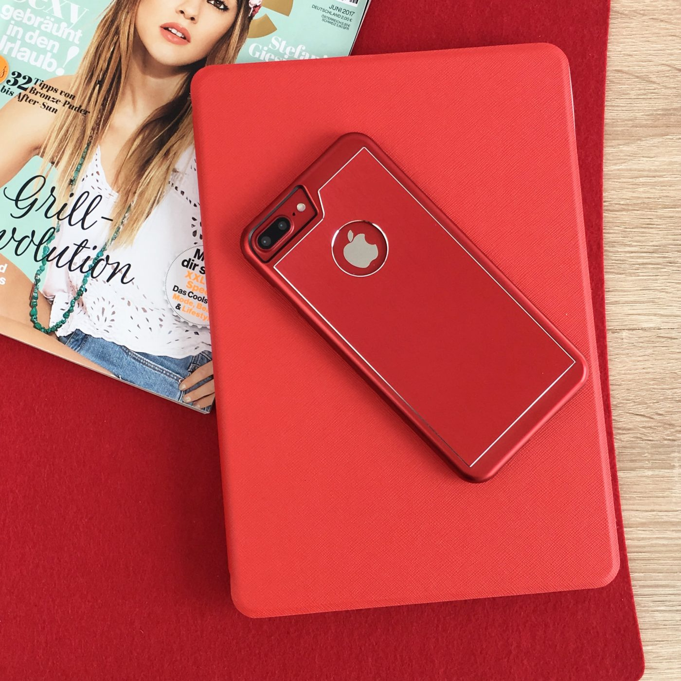 Aluminium Case red